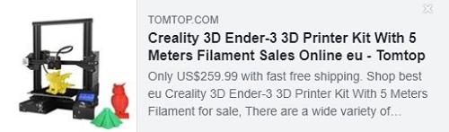 مجموعة طابعات Creality 3D Ender-3 ثلاثية الأبعاد مع خيوط 5 أمتار السعر: 154.99 دولارًا أمريكيًا يتم تسليمها من مستودع الاتحاد الأوروبي ، شحن مجاني