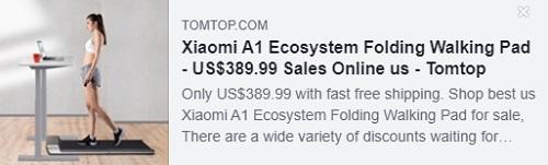 وسادة المشي القابلة للطي Xiaomi A1 Ecosystem السعر: 389.99 دولارًا أمريكيًا تم تسليمها من مستودع الولايات المتحدة الأمريكية ، شحن مجاني