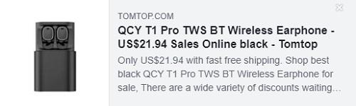 سعر سماعة الأذن اللاسلكية QCY T1 Pro TWS BT: 21.94 دولار